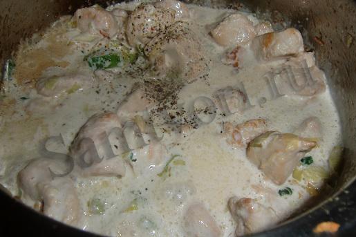 индейка в соусе вторые блюда лук-порей